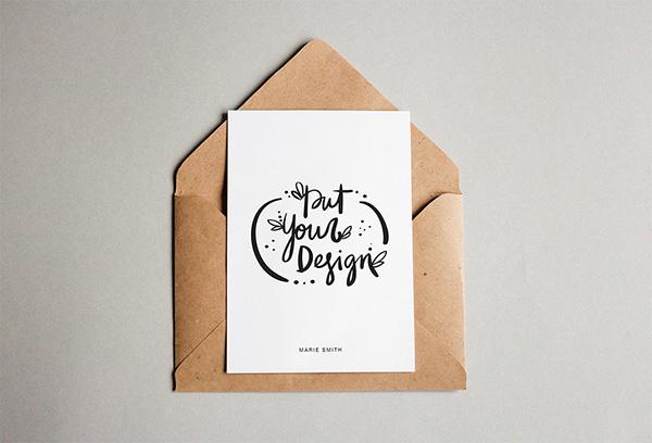 Free Postcard With Envelope Mockups Mockupworld